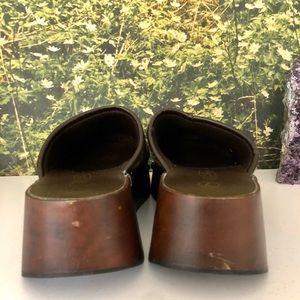 Vintage Shoes - VTG Snowflake Knit Clogs